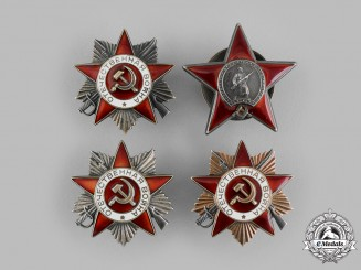 Russia, Soviet Union. A  Lot of Four Soviet Orders