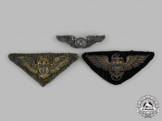 United States. Three Second War Air Force Badges