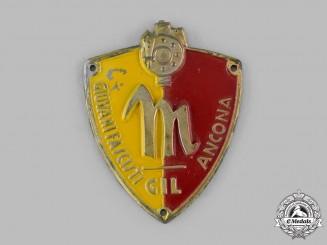 Italy, Kingdom. A GIL (Gioventu Italiana del Littorio) Giovani Fascist Youth Ancona Sleeve Badge