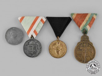 Hungary, Kingdom. A Lot of Four Medals