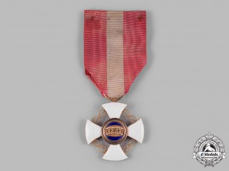 Italy, Kingdom. An Order of the Crown in Gold, V Class Knight