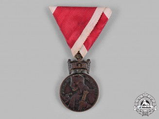Croatia, Independent State. An Order of King Zvonimir's Crown, Bronze Grade Medal, c.1941