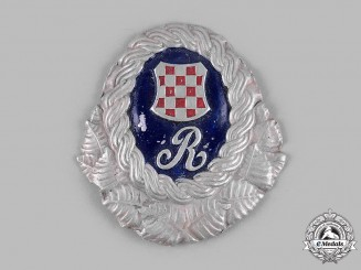 Croatia, Independent State. A Ustasha Officer's Cap Badge
