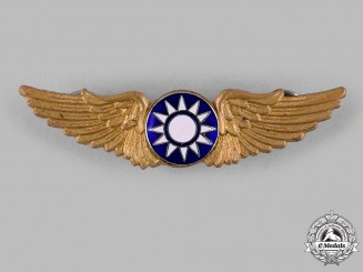 China, Republic. An American-Made Republic of China Air Force Basic Pilot Badge, c.1943