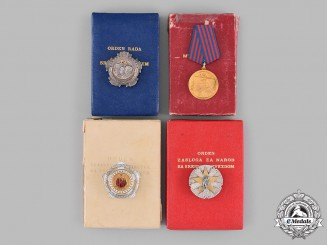 Yugoslavia, Socialist Federal Republic. Four Awards & Decorations