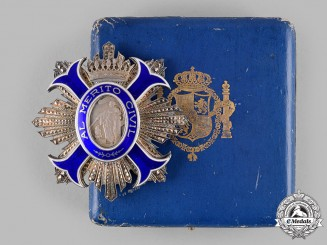 Spain, Franco Period. An Order of Civil Merit, Supernumerary Commander with Case, by M. Cejalvo, c.1950