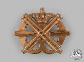 Netherlands, Kingdom. An Army Anti-Aircraft Artillery Beret Badge, c.1939