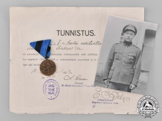Estonia, Republic. A Group of Estonian Award Documents