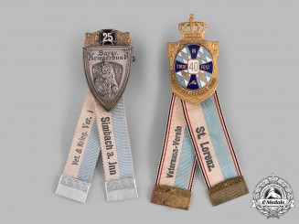 Bavaria, Kingdom. A Pair of Veterans Association Badges by Deschler & Sohn