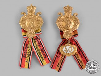 Baden, Grand Duchy. A Pair of Baden Military Veterans Association Badges