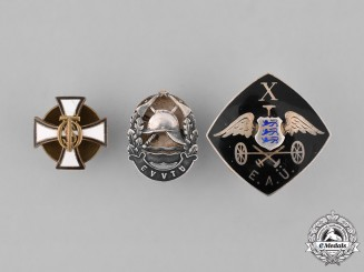Estonia, Republic. A Lot of Three Lapel Badges