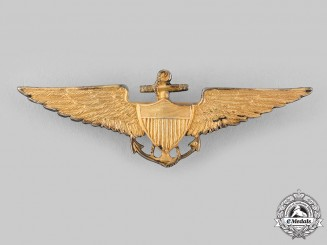 United States. A Scarce Naval Aviator Badge, c.1925