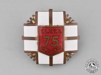 Estonia, Republic. A City of Tartu Volunteer Firefighting 75th Anniversary Badge 1864-1939