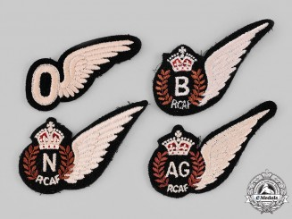 Canada. A Lot of Four Second War Royal Canadian Air Force (RCAF) Wings