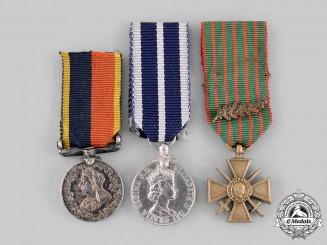 Canada, United Kingdom, France. A Lot of Three Miniature Medals