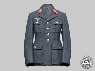 Germany, Luftwaffe. An Anti-Aircraft/Artillery Obergefreiter Service Tunic, by C & O Drassel