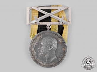 Saxe-Weimar, Duchy. A 1914 General Honour Medal for Merit with Swords, Silver Grade