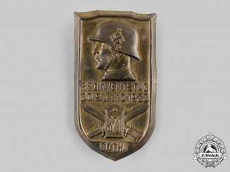 Germany, Wehrmacht. A 1933 Gotha Regimental Day Badge