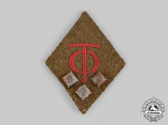 Germany, Third Reich. An Organisation Todt Haupttruppführer Collar Tab