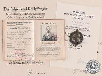 Germany, SS. A Lot of Awards and Documents to SS-Scharführer Walter Krischke