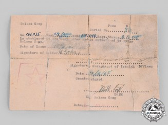 Germany, SS. A Bergen-Belsen Entrance Pass and Handwritten Note from Irma Grese