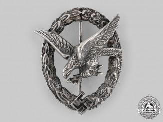 Germany, Luftwaffe. A Radio Operator & Air Gunner Badge by Gebrüder Schneider