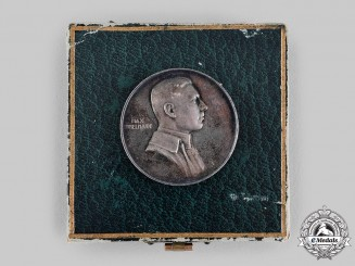 Germany, Imperial. A Max Immelmann Medal with Case, by L. Christian Lauer