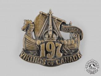 Canada. A 197th Infantry Battalion Cap Badge, c. 1915