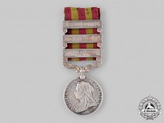 United Kingdom. An India Medal 1895-1902, 9th Field Battery, Royal Artillery