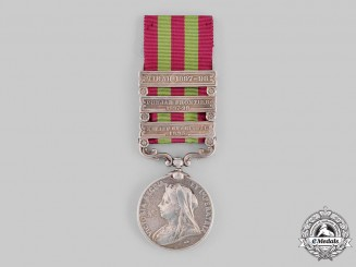 United Kingdom. An India Medal 1895-1902 13th