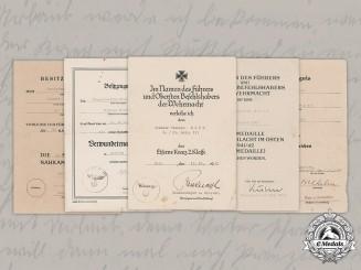 Germany, Heer. Award Documents To Obergefreiter Wilhelm Birk (CCC, EK2)
