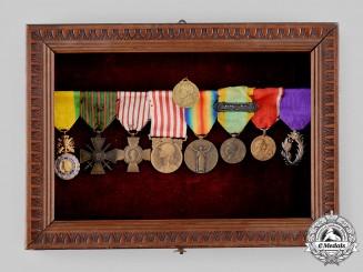 France, III Republic. A Colonial & First War Service Medal Bar