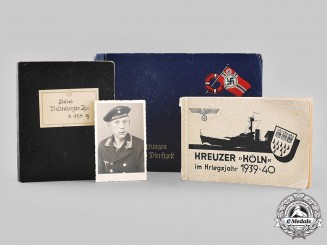 "Germany, Kriegsmarine. An Extensive Wartime Photo Album & Documents Of Sailor Of Cruiser ""Köln"", Attack On Norway"