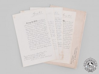 United Kingdom. Four Award Documents to Field Marshal Sir Arthur Arnold (Archie) Barrett GCB, GCSI, KCVO, ADC