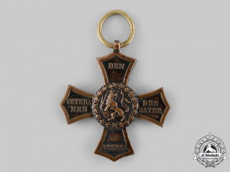 Bavaria, Kingdom. A Bavarian Veteran's Cross for the Campaigns of 1790-1812