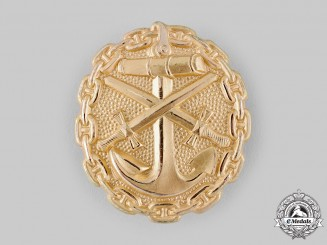 Germany, Imperial. A Naval Wound Badge, Gold Grade