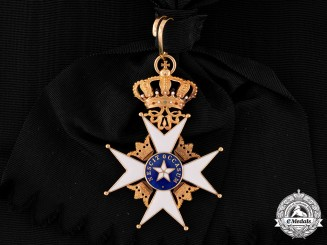 Sweden, Kingdom. An Order of the North Star in Gold, I Class Grand Cross Badge (KmstkNO), by C.F. Carlman, c.1915