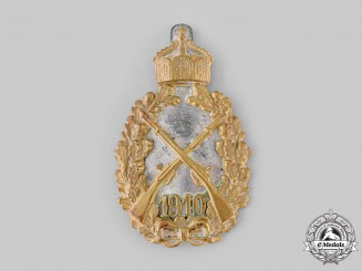 Germany, Imperial. A 1910 Imperial Infantry Badge by C.E. Juncker
