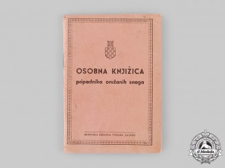 Croatia, Independent State. An Unissued Croatian Armed Forces Membership Identification Booklet