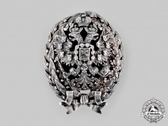 Russia, Imperial. An Imperial Nicholas Military Academy Graduation Badge, by Kortman, c.
