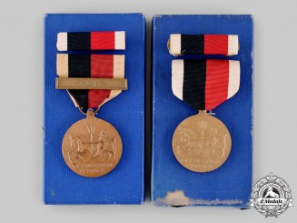 United States. A Pair of Navy Occupation Service Medals