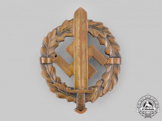 Germany, SA. A Sturmabteilung (SA) Sports Badge in Bronze by Petz & Lorenz