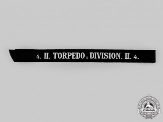 Germany, Imperial. A 2nd Torpedo Division Cap Band