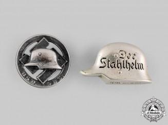 Germany, Der Stahlhelm. A Pair of Stahlhelm Membership Badges