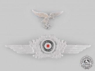 Germany, Luftwaffe. A Set of Visor Cap Insignia