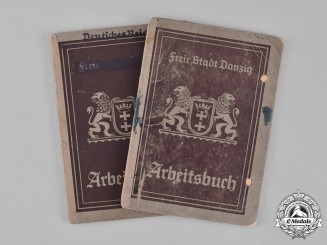 Germany. A Pair of Danzig Employment Record Books