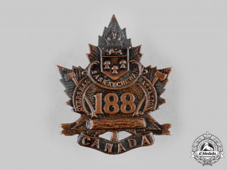 "Canada, CEF. An 188th Infantry Battalion ""Saskatchewan Battalion"" Cap Badge, c.1916"