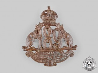 "Canada, CEF.  A 189th Infantry Battalion ""Canadiens Français"" Cap Badge, c.1916"