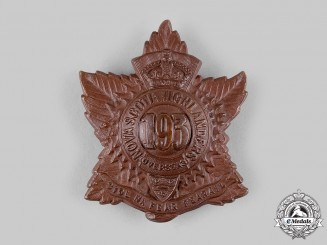 "Canada, CEF. A 193rd Infantry Battalion ""Nova Scotia Highlanders"" Glengarry Badge, c.1916"