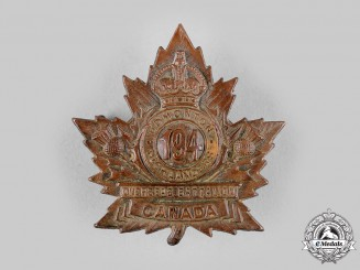 "Canada, CEF. A 194th Infantry Battalion ""Edmonton Highlanders"" Cap Badge, by Ash bros, c.1916"